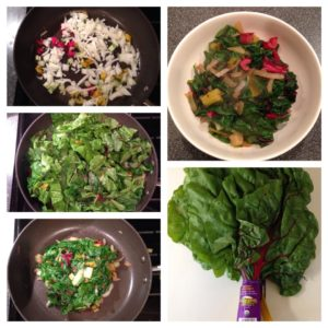 Sauteed Rainbow Chard with Maple Syrup